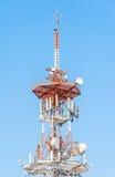 Telecommunication mast TV antennas wireless technology Royalty Free Stock Photo