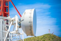 Telecommunication mobile phone communication repeater antenna Stock Image
