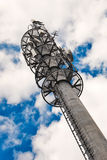 Telecommunication monopole tower. Royalty Free Stock Image