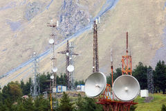 Telecommunication in mountain Royalty Free Stock Photo
