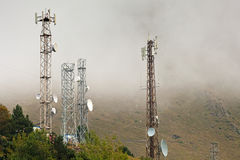 Telecommunication in mountains Stock Image