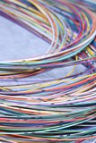 Telecommunication multicolored network cable Stock Photos