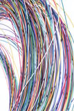 Telecommunication multicolored network cable Stock Photo