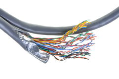 Telecommunication network cable Royalty Free Stock Images