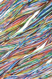 Telecommunication network cables Royalty Free Stock Photos