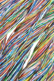 Telecommunication network cables Royalty Free Stock Photography