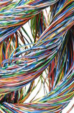 Telecommunication network cables Stock Photos