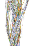 Telecommunication network cables Stock Photo