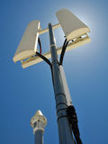 Telecommunication Panels. Wireless Telecommunication Panels with GPS Antenna Stock Photography