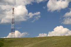 Telecommunication pillar. Royalty Free Stock Photography