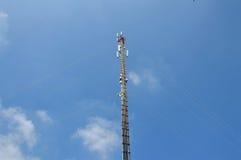 Telecommunication pole Stock Image