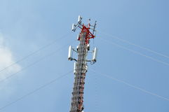 Telecommunication pole Royalty Free Stock Images