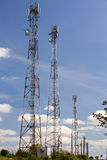 Telecommunication poles Royalty Free Stock Photos