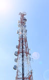 Telecommunication post on blue  sky Royalty Free Stock Photo