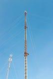 Telecommunication Radio Antenna and Satelite Tower Stock Image