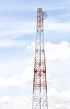 Telecommunication Radio antenna Tower Stock Image