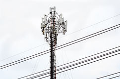 Telecommunication Radio Antenna Tower Stock Photos