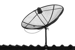 Telecommunication satelite dish isolated Stock Photos