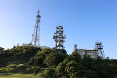 Telecommunication signal tower Stock Image