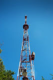 Telecommunication steel tower Royalty Free Stock Photo