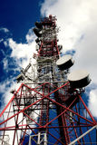 Telecommunication, Telecommunications Tower Royalty Free Stock Images
