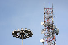 Telecommunication  tower Royalty Free Stock Photos