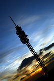 Telecommunication Tower. This is the telecommunication tower of the city of Ulm, Baden-Wuerttemberg, South-Germany Royalty Free Stock Image