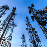 Telecommunication tower Stock Image