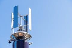 Telecommunication tower with antenna swiveling Royalty Free Stock Image