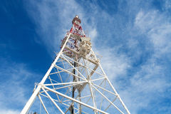 Telecommunication tower with antennas Stock Photography