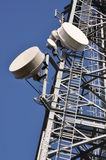 Telecommunication tower with antennas Stock Image