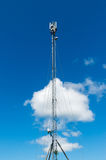 Telecommunication tower with antennas. Stock Images