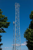 Telecommunication tower with antennas. Stock Image