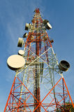 Telecommunication tower with antennas Royalty Free Stock Photo