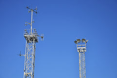 Telecommunication tower. Stock Photos