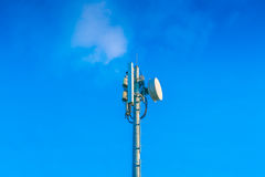Telecommunication tower with beautiful sky . Stock Photography