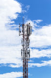 Telecommunication tower with blue sky Royalty Free Stock Photos