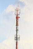 Telecommunication tower with blue sky. Telecommunication tower with blue sky, as background or print card Royalty Free Stock Photography