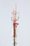 Telecommunication tower with blue sky. Telecommunication tower with blue sky, as background or print card Stock Image