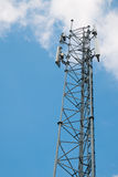 Telecommunication tower with blue sky Stock Photography