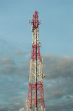 Telecommunication tower with cell phone antenna system Stock Photography