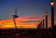 Telecommunication Tower designed for 1992 Summer Olympics in Bar Royalty Free Stock Image