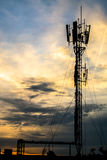 Telecommunication Tower in Evening Light. Royalty Free Stock Image
