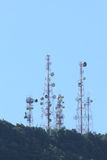 Telecommunication tower. On the hill Stock Image