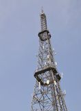 Telecommunication Tower. This large telecommunication tower was found in China. Picture taken May 2014 Stock Images