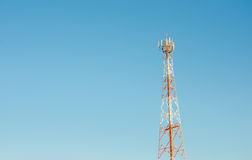 Telecommunication tower. Mobile technology Television Stock Photography