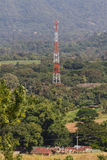 Telecommunication tower in nature Royalty Free Stock Images