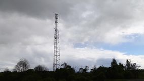 Telecommunication tower in the open air stock video footage