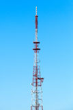 Telecommunication tower over blue sky Royalty Free Stock Photography