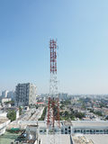 Telecommunication tower . Royalty Free Stock Photography